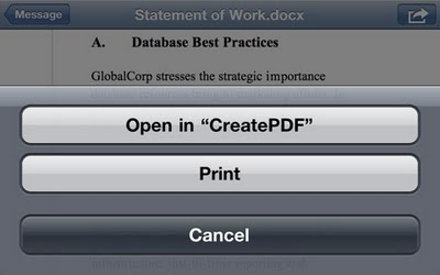 Create and Open PDF Files in iPhone, iPad, and iPod Touch with Adobe CreatePDF