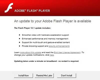 Flash Player 10.1 Released