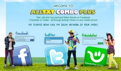 Smart All-Txt Combo Plus – Send and Receive Facebook, Twitter, or Friendster Updates Offline