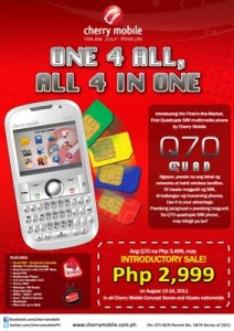 Cherry Mobile Q70 Quad-SIM Phone Goes On Sale 'Till Tomorrow