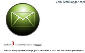 Create Facebook Back-Up Message, a Spam