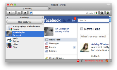 Hacking Facebook and Twitter Accounts Possible with Firesheep Firefox Extension