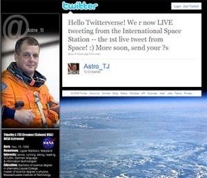 NASA's Expedition 22 Sends First Tweet from Space