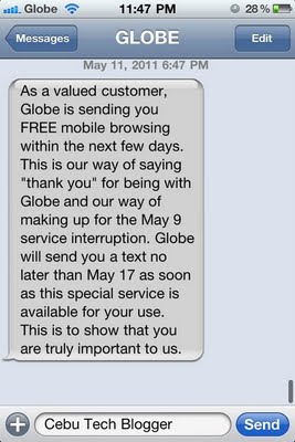 Globe Telecom to Give Free Call, Text, or Mobile Internet to Subscribers Affected in May 9th Outage
