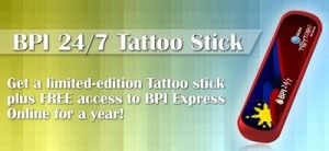 BPI 24/7 Tattoo Stick, Special Edition Globe Mobile Broadband Stick for BPI Clients