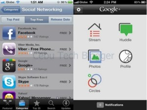 Google+ for iPhone Available Now in Philippine App Store