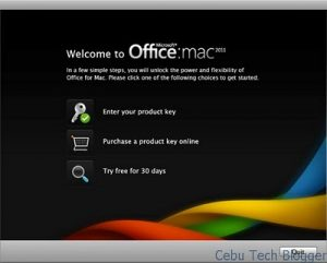 MS Office for Mac 2011, Free 30-Day Trial