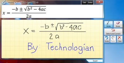 Windows 7 Math Input Panel- Write Math Equations Easier