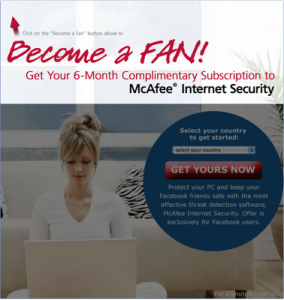 Free McAfee Anti-Virus Download for Facebook Users