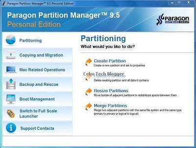 Download Paragon Partition Manager 9.5 with Free Serial Number and Product Key