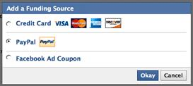 Pay Facebook Ads and Credits Using Paypal