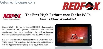 RedFox Wizpad Tablet Now Available in Philippines, Priced at Php 31,999