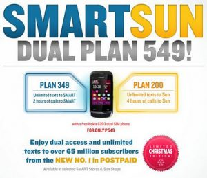 SMART, Sun Cellular Offer Dual Plan 549