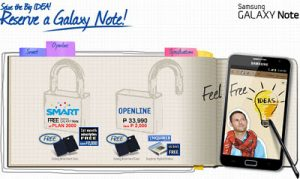 Samsung GALAXY Note Heading to SMART, Free at Plan 2000; Reserve Now!