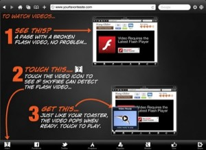 Skyfire for iPad is Out, Let You Play Flash Videos on the Tablet