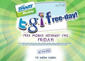 Smart Subscribers Free Internet Access Today: T.G.I.Freeday