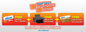 Smartbro's Broadbandest Blowout Gives You HP AIO Printer and Free Post Paid Plan