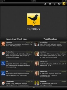 TweetDeck Twitter Client for iPad