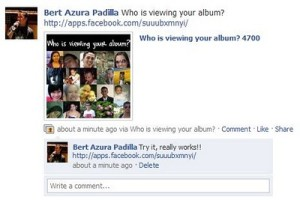 Who is Viewing Your Album Facebook App Spam