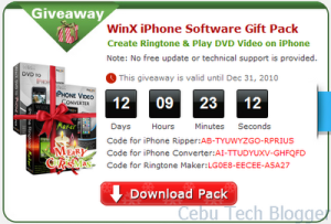 Christmas Software Giveaway: WinX iPhone Software Gift Pack
