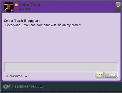 Yahoo Messenger Pingbox for Blogs and Websites