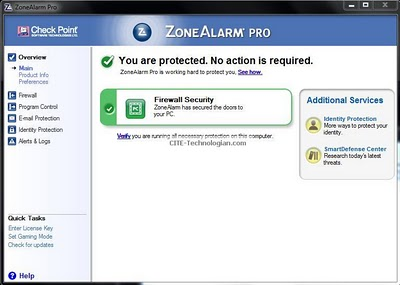 Free ZoneAlarm Pro Firewall Review