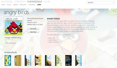 Angry Birds for Windows Phone 7 Now Available for Download