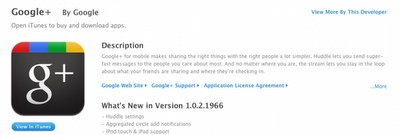 Google+ for iPad and iPod Touch – Out Now!