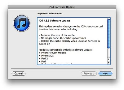 Apple Releases iOS 4.3.3 for iPhone, iPad, and iPod Touch