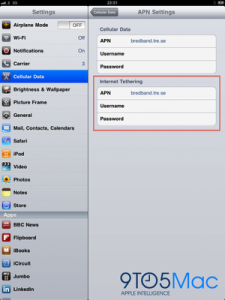 iPad Internet Tethering Possible on iOS 4.2