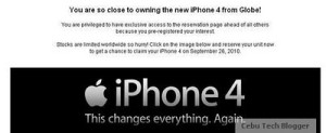 Globe Telecom iPhone 4, Coming Sept. 26th [Updated with Official Price]