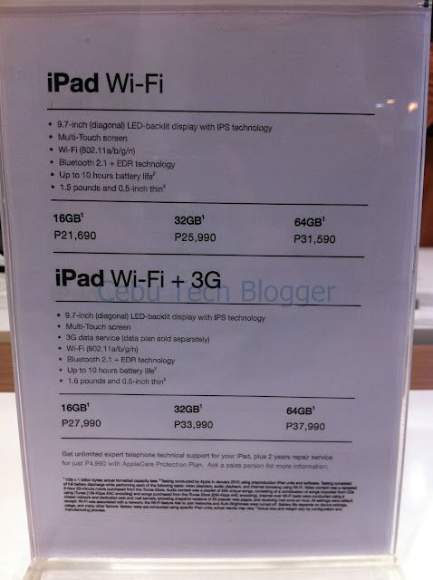 iStore Cebu Still Selling First-Gen iPad Higher Than Apple Store Philippines