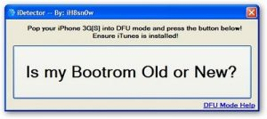 iDetector – a Utility to Check iPhone 3GS Bootrom