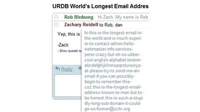 The World's Longest Active Email Address