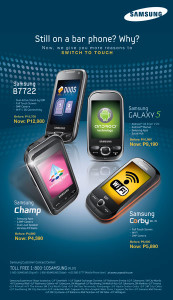 Samsung Philippines Drops Prices for Galaxy 5, Champ, Corby, B7722 and Punch!