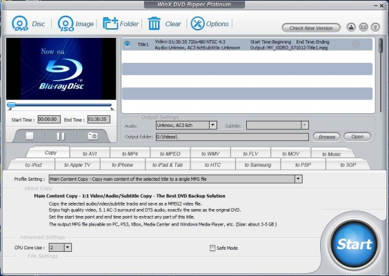 WinX DVD Ripper Platinum 6.9.0 - Movie Preview