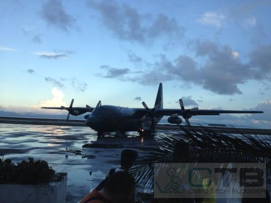 The C130 bound for Cebu
