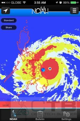 Super Typhoon Haiyan at 4AM, Fiday, in Philippines