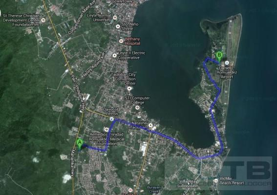Shortest Path to Tacloban Airport