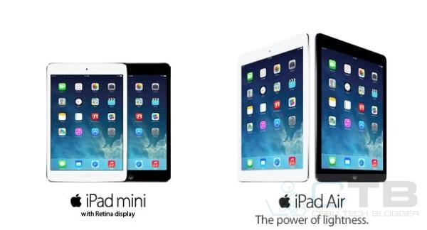 iPad Mini Retina Display, iPad Air
