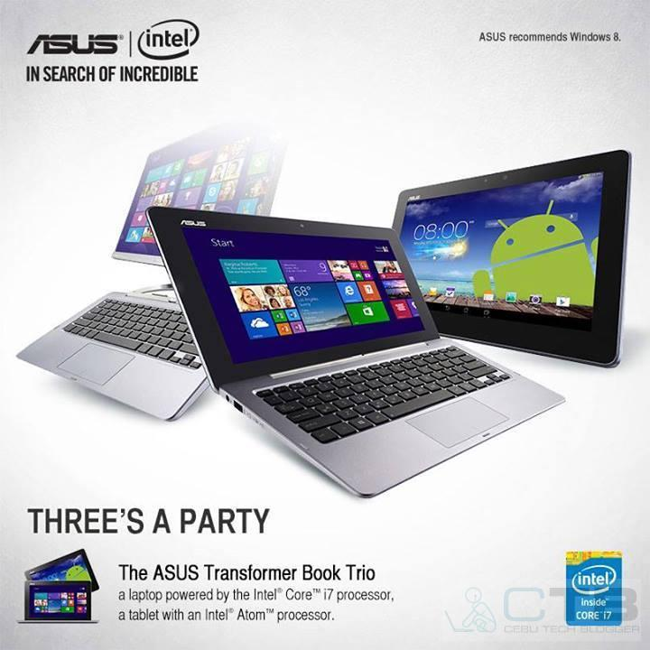 Asus Transformer Book Trio, new Transformer Pad and Memo Tablets now Available in PH!