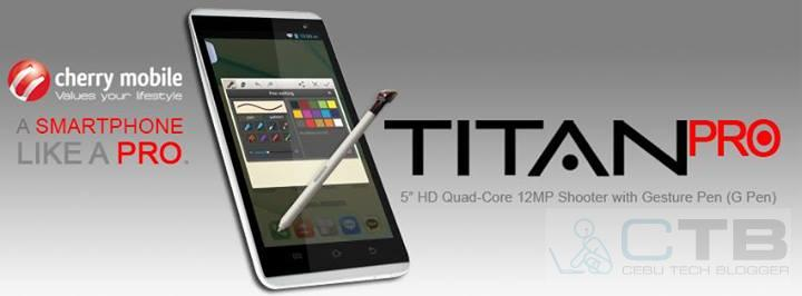 Cherry Mobile Titan Pro: the upcoming CM Smartphone with G Pen Stylus!