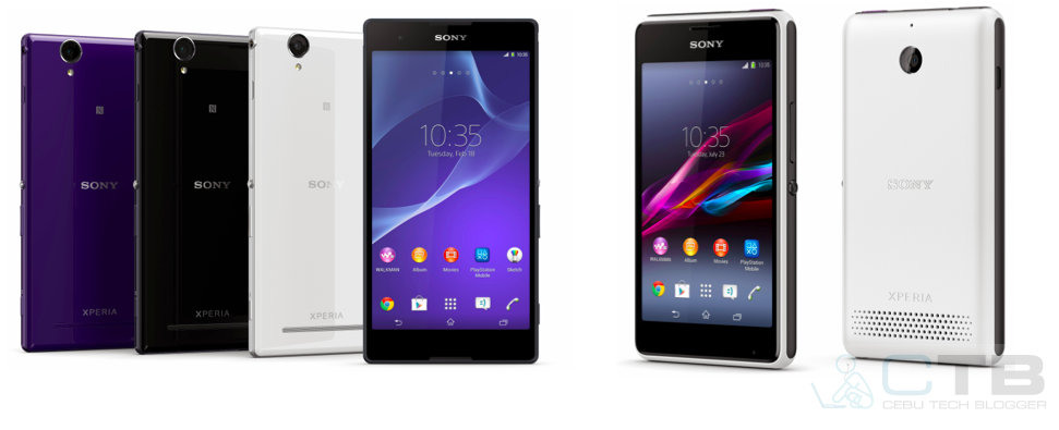 Sony Xperia T2 Ultra and Xperia E1