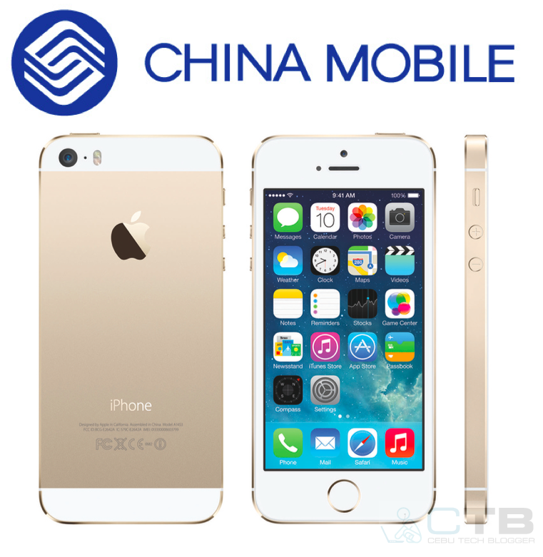 iPhone 5S with China mobile logo