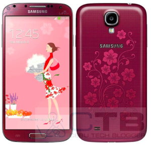 This Red Samsung Galaxy S4 La Fleur is for Ladies and Fashionistas! Coming in White as well by March