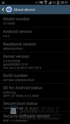 Android 4.4 KitKat Galaxy S4