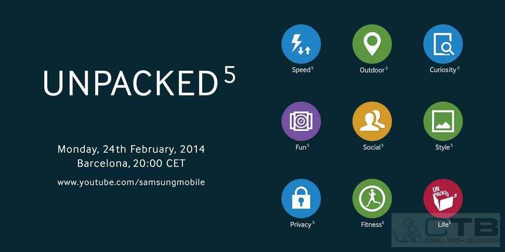 Samsung Teases what Could be the Galaxy S5's UI with the new Unpacked5 Event Invite
