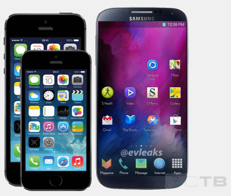 GalaxyS5 iPhone 6