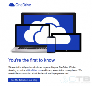 Microsoft Rolls officially out OneDrive, comes with up to 15 GB of free Cloud Storage