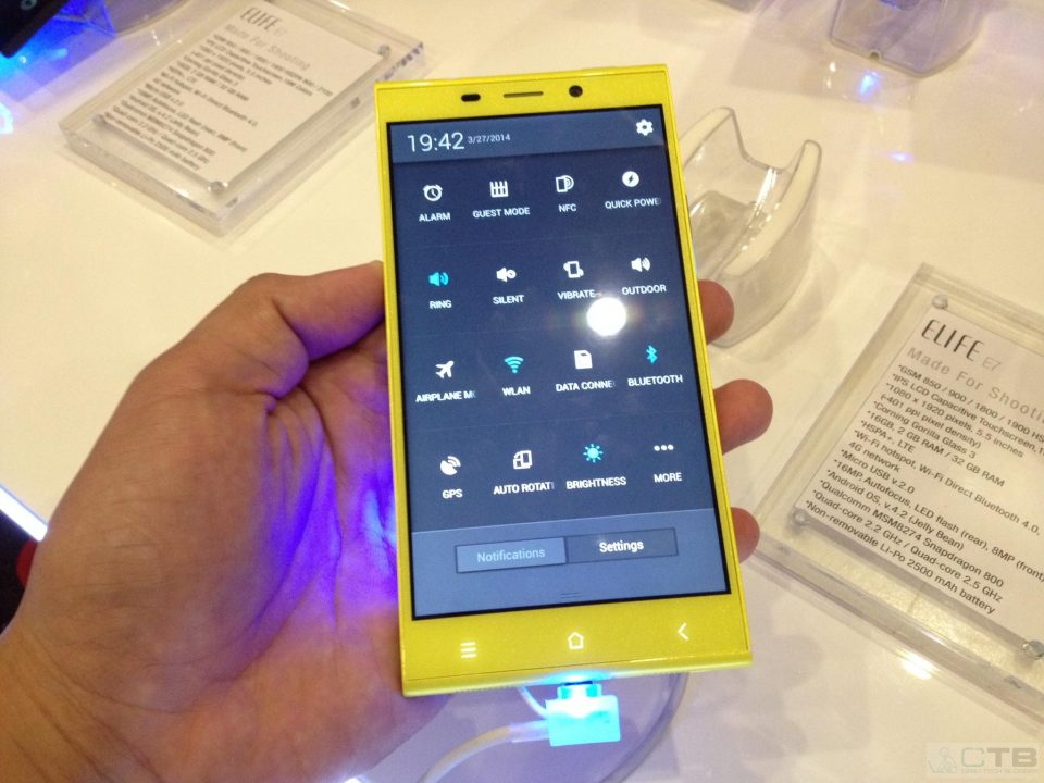 Gionee Elife E7 (Icons)